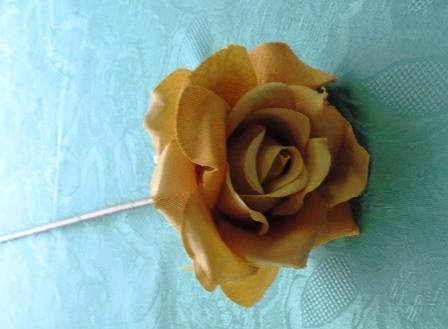 Růže kávová látková MH91813