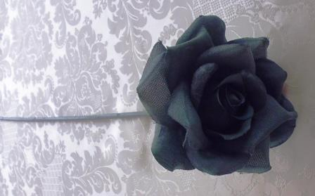 Růže modrá látková MH91813
