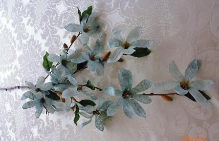 Větev květy šedá MH91810